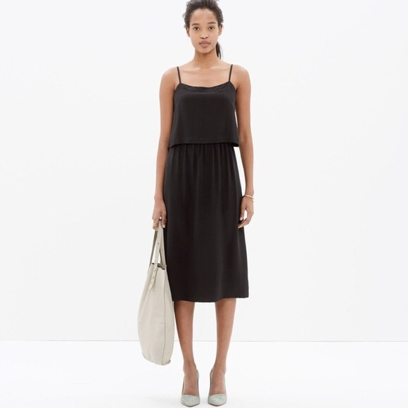 Madewell Dresses & Skirts - Madewell Silk Overlay Dress in Black